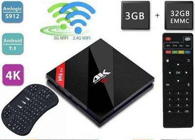 H96 Pro+ 4K Android 7.1 S912 Octa Core 3GB 32GB Dual WiFi For TV Box +Keyboard