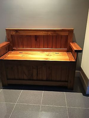 Timber Bench Seat with storage