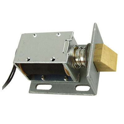 DC 12V Open Frame Type Solenoid for Electric Door Lock Silver E8U7