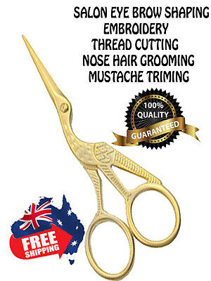 "Gold 3.5"" Stork Scissor For Embroidery, Manicure,nail Art,craft&sewing Scissors"