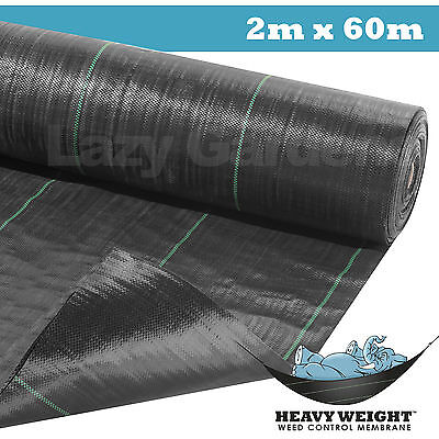 2m x 60m weed control fabric garden landscape ground cover membrane driveway