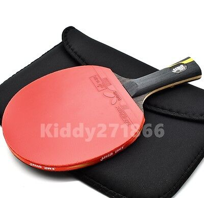 Double Happiness HURRICANE Wand Table Tennis Racket PING PONG Bat Long Handle