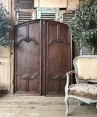 Pair Of vintage French Arched Doors