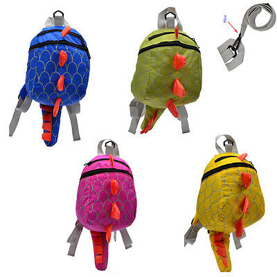 AU Baby Toddler Kids Dinosaur Safety Harness Strap Bag Backpack with Buddy Reins