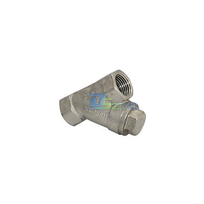 "1/2"" WYE STRAINER Mesh Filter Valve 800 WOG Stainless Steel SS316 CF8M NEW CL"