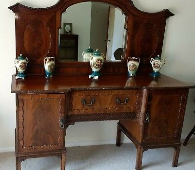 beautiful pr antique sideboard dresser in walnut Lovely condition for age