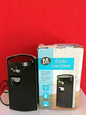 Morrisons Electric Knife Sharpener, Bottle and Can Opener-3 IN 1