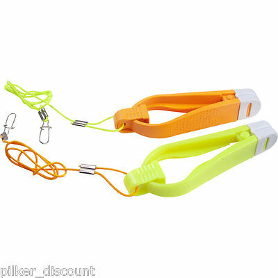 FLADEN Downrigger Release Clips - 2 Pcs, Sizes S or L, Colours yellow/orange
