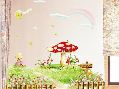 Mushroom Garden Home Decor Removable Wall Sticker Decal Decoration Vinyl Mural