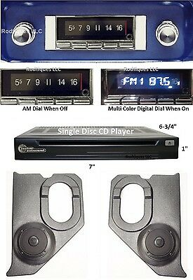 1964-66 Chevy GMC Truck Bluetooth Stereo Radio + CD Player + Kick Panels 740