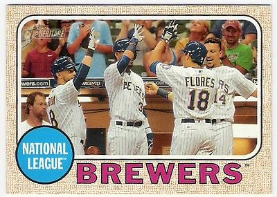 2017 Topps Heritage Milwaukee Brewers Check List #397
