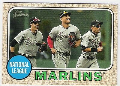 2017 Topps Heritage Miami Marlins Check List #347