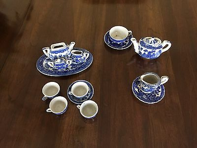 Blue Willow Minature Tea Dishes