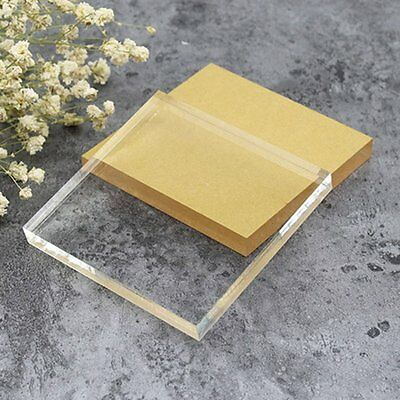 Multiple shapes Clear Acrylic Sheet Cut to Size Resin Panel 10mm Thickness SY