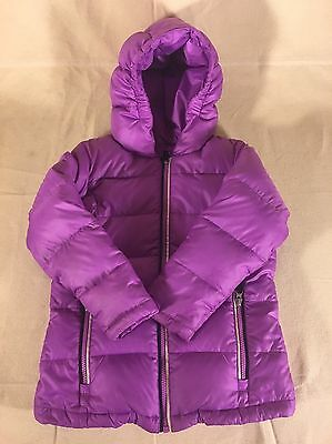 Land's End Kids Purple Down Puffer Coat Jacket - Size Large (6X)