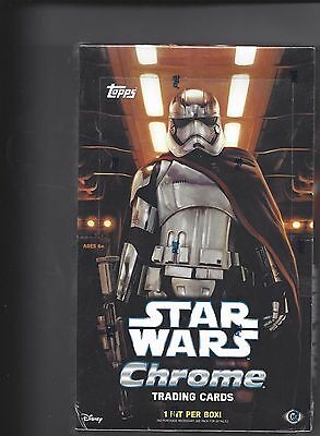 2016 Topps Star Wars The Force Awakens Chrome SEALED HOBBY BOX