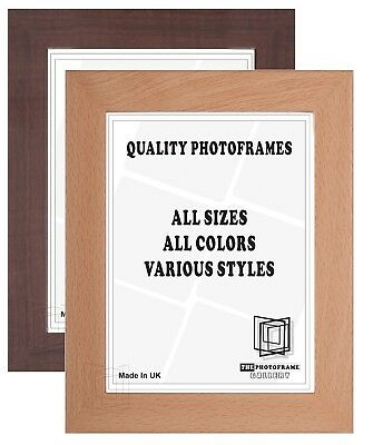 Mahogany Photo Frames Beech Poster Frames All sizes Square Various Picture Frame