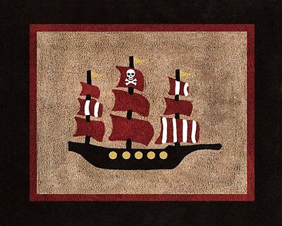 Baby Kids Floor Rug for Sweet Jojo Designs Treasure Cove Pirate Bedding Set
