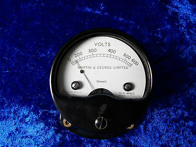 Vintage Bakelite Griffin & George Voltmeter physics science electrical test
