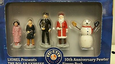 Polar Express 10th Anniversary Pewter Snowman & Children Figures Lionel 6-37183