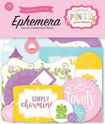 "Echo Park ""perfect Princess"" Ephemera Die Cuts Girl Princess  Scrapjack's Place"