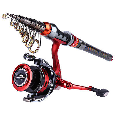 Telescopic Spinning Fishing Rod with Metal Handle Strong Fishing Reel Combos Kit