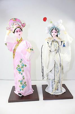 Vintage Chinese Doll 12' , Chinese Opera Characters, Guide Book included