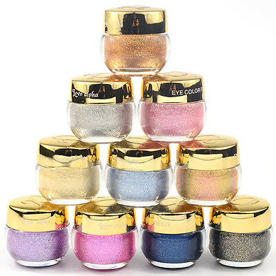 16 Colors 3D Eyes Glitter Powder Eyeshadow Makeup Eye Shadow Cosmetics Salon