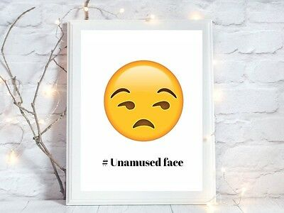 unamused face emoji face a4 glossy poster Print  picture gift unframed 3