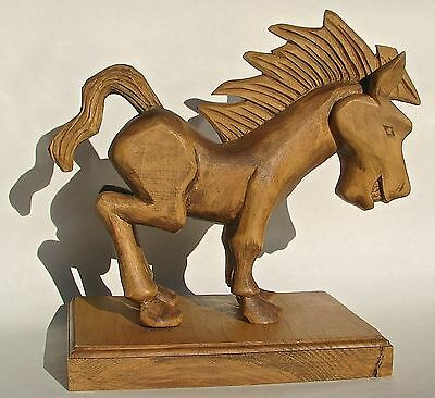 Donkey / Horse Wood Carving - Russell Beckwith