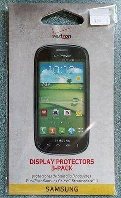 2 Pack Verizon Display Protectors SAMSUNG GALAXY STRATOSPHERE 2 II