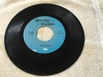 45 RPM,Rusty Evans,For Elvis/Close To You,NICE,Free Shipping