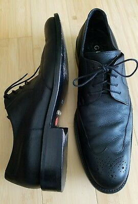 GUCCI Men's Leather Lace-up Dress Shoes Black - Size 45E made in italy