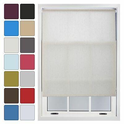 Plain Roller Blinds Up to 240cm x 210cm Quality Trimmable Blind - 14 Colours