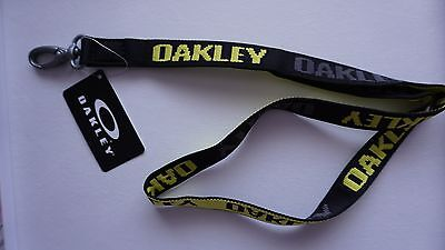 Oakley Lanyard- One Size - Black and Yellow Brand New
