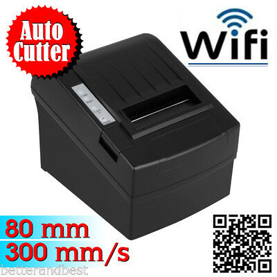 WiFi 300MM/S 80MM AUTO-CUT USB Thermodrucker Bondrucker ESC POS Kassendrucker DE