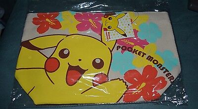 Pokemon Pikachu Canvas Tote NEW from Japan NICE AUTHENTIC LOOK Flowers