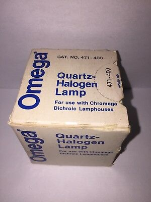 Omega Quartz Halogen Lamp # 471-400  For Use With Chromega Dichroic Lamp houses!