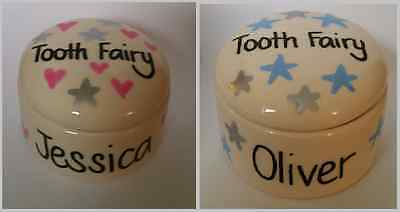 Personalised First Tooth Trinket Box. 1st tooth Keepsake, Tooth Fairy