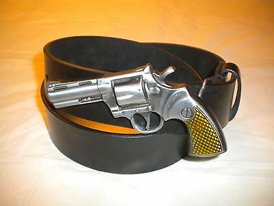 Brand New Western Buckle With A Gun Combination Of Silver And Gold Buckle  Only