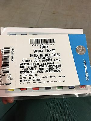 V Festival X 2 General Admission Tickets - Sunday 20th August - Weston Park
