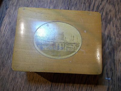 Antique Mauchline Sewing  Box With Implements Royal Pavilion Brighton