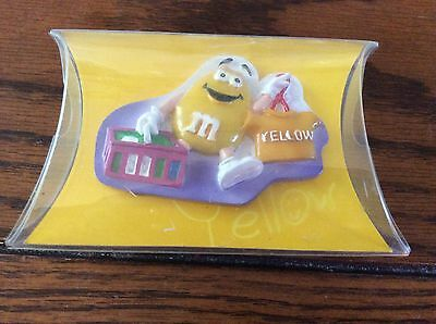 m&m yellow figurine fridge magnet new