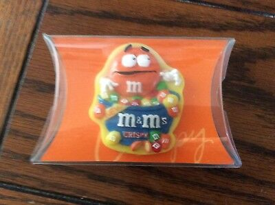 m&m orange figurine fridge magnet new
