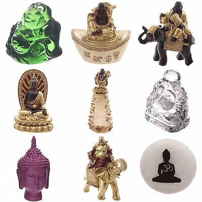 Collectable Glass Buddha Figurines Luck Stone Wood Tiered Oil Burner Gift