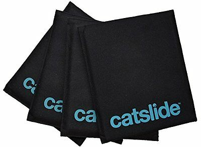 Perform Better adultos Cats lides Juego 4 alfombras, Negro, 30 x 18 cm, 3926.90