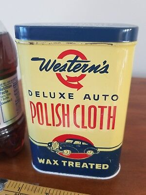 Westerns  POLISHING CLOTH  grease metal oil can petroleum gas collectibl auto