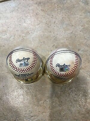 Aaron Judge Birthday Game balls - RARE -Birthday Bash in Boston for Yankees ROY!
