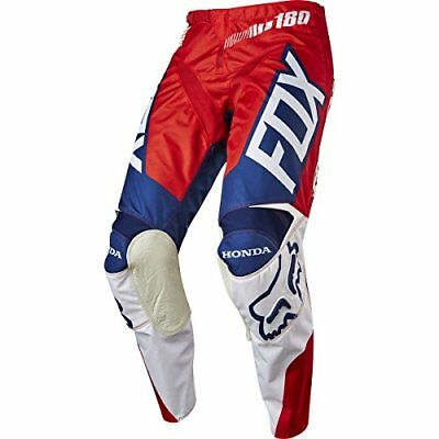 Fox Mx Pantalón 2017 180 Honda Rojo de color blanco (48 EU, Rojo)