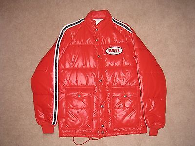 Vintage Bell Helmets Jacket Red Nylon Arctic Size SMALL Genuine Bell Apparel USA